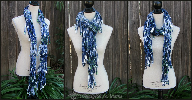 fringe scarf; rag scarf; wendy renee adams; scarf; seattle; seahawks; seahawkfans; fleece