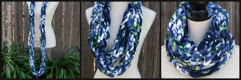 infinity scarf; cowl scarf; wendy renee adams; scarf; seattle; seahawks; seahawkfans; fleece
