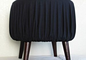 Simple stool slipcover in classic black.