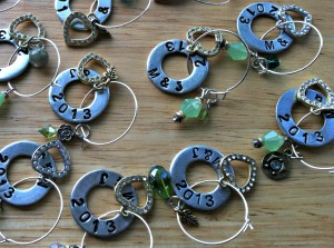 Flat Washer Stamped Glass Charms